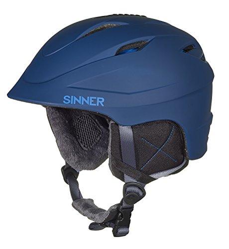 SINNER Erwachsene Gallix II in-Mold Skihelm/Snowboardhelm, Matte Indigo Blue, S