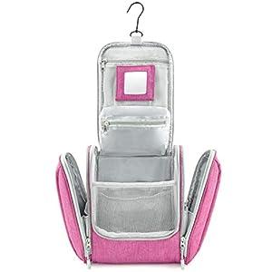 GO!elements® Bolsa de Aseo para Colgar Hombres y Mujeres | Neceser cosmético Hombre Grande Mujer para Maletas y Equipaje de Mano | Neceser de Viaje, Color:Rosa