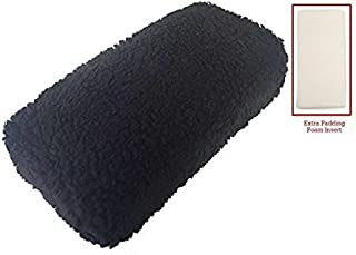 Azoob Universal Knee Walker Knee Rest Pad Cover Cushion with New 1 1/2 Extra Foam Padding and Adjustable Straps (Black)