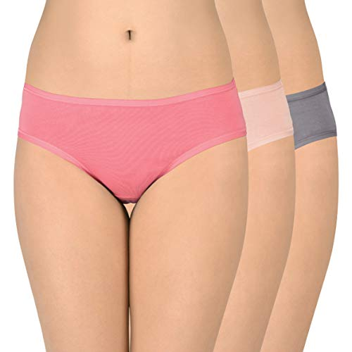 Amante Solid Low Rise Cotton Bikini Panty Pack (Pack of 3) C328 Solid Large