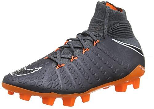 Nike Unisex-Kinder Hypervenom Phantom III Elite DF FG Fitnessschuhe, Mehrfarbig (Dark Grey/Total Oran 081), 38 EU