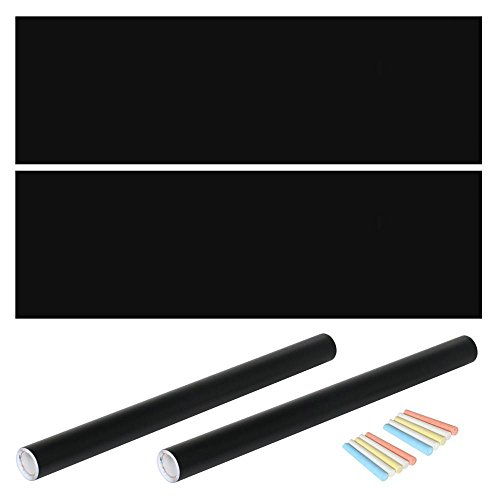 Yaheetech Klebefolie Tafelsticker Tafelfolie Selbstklebend PVC Schwarz 60 x 200cm