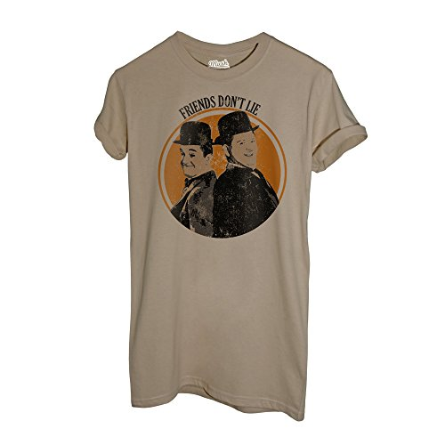 MUSH T-Shirt STANLIO E OLLIO - Friends Don't Lie - Film by Dress Your Style - Uomo-L-Sand