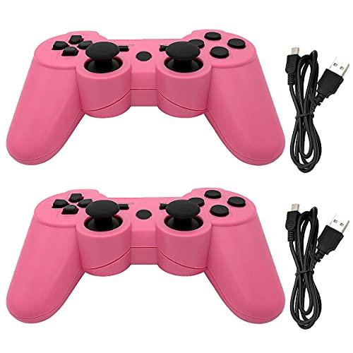 Dimrda PS3 - Mando a Distancia inalámbrico Dualshock 3 con 6 Ejes Bluetooth PS3 para Playstation 3, Mando a...