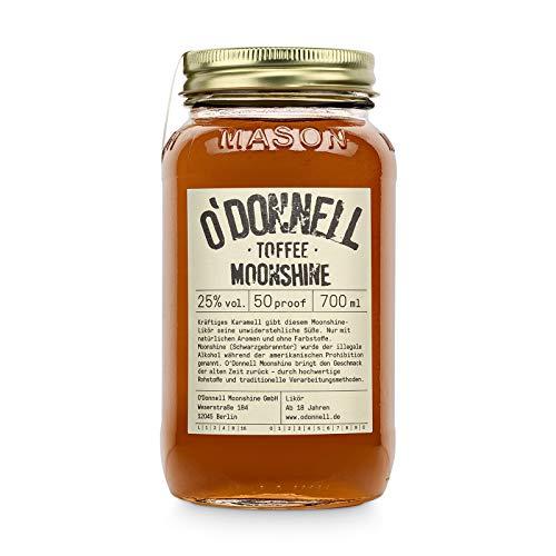 "O'Donnell Moonshine ""Toffee"" Likör (700 ml) I Made in Germany I Natürliche Zutaten I Premium Schnaps nach Amerikanischer Tradition I 25% Vol. Alkohol"