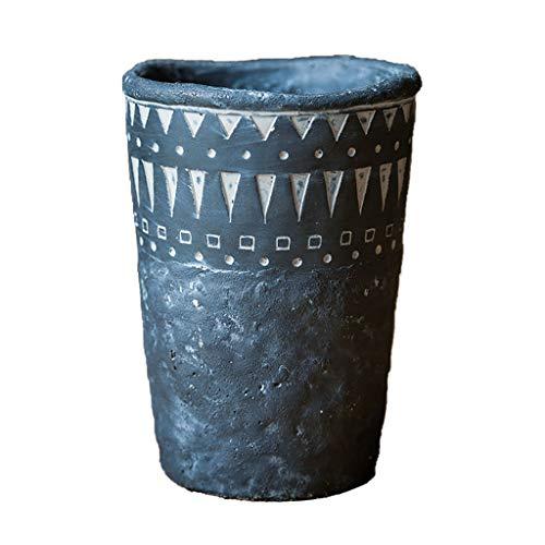 Elf Blumentopf Vintage Afrikanische Ethnische Muster Garten Dekorative Cement Vase