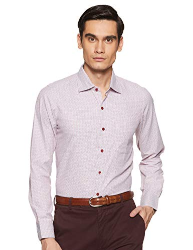 Excalibur Men's Formal Shirt (8907542558582_400016479614_42_Red)