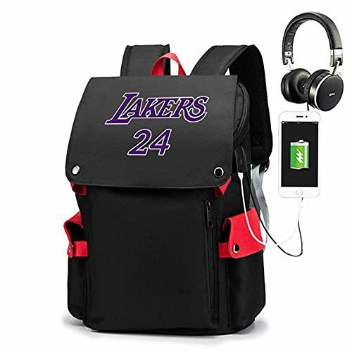 AGLT Mochila de viaje para hombre, de ocio, de baloncesto, para estudiantes, mochila deportiva para mujeres, interfaz de carga USB externa, A3