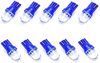 iJDMTOY (10) Ultra Blue Single-Emitter 1-LED 168 175 194 2825 W5W T10 LED Replacement Bulbs Compatible With Car Interior Lights,  Map Lights,  Dome Lights,  Foot Area Lights,  Trunk Area Lights,  etc