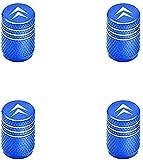 4 Pezzi Tappi Valvola Pneumatici, per Citroens C1 C2 C3 C4 C5 C6 C8 C4L DS3 DS5, Cappucci Valvole Antipolvere E Impermeabile Auto Decorazione Accessorio