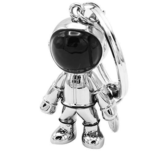 MIKIZO スペースマスコット 宇宙飛行士 キーホルダー アクセサリー チャーム メタル (シルバー)