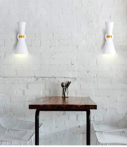 Applique Applique fer éclairage LED personnalité moderne Applique murale forgé 36 * 15cm (Color : Blanc)