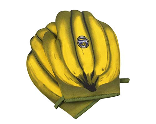 Nette Design-Bananen-Modell-hitzebeständige Ofenhandschuhe, doppelt rutschfeste Baumwoll-Ofenhandschuhe, für Grill, Mikrowelle, Kochen usw, notwendig zum Backen, EIN Paar, gelb Oven Gloves WANGSHAOFE