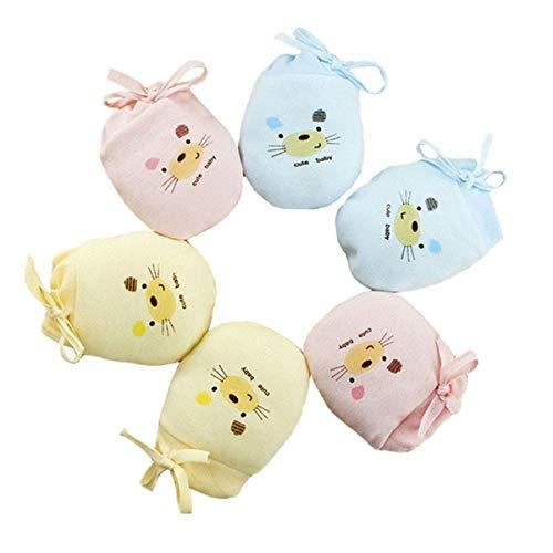 LOVARTS BEAUTY LOVARTS BEAUTY 3 Paare Baby Warmer Handschuhe aus Baumwolle - Herbst Winter Neugeborene Mädchen Junge Einstellbare Kratzhandschuhe & Fäustlinge gegen Kratzen (Ratte)