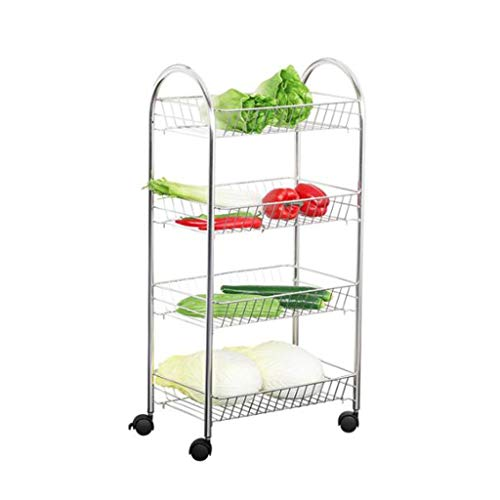 Amazing Deal Fruit and Vegetable Rack Kitchen Shelf Multi-storey Bedroom With Pulley Vegetable Stora...
