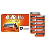 Gillette Lames de Rasoir Homme Fusion5, Pack de 12 Lames de Recharges [OFFICIEL]