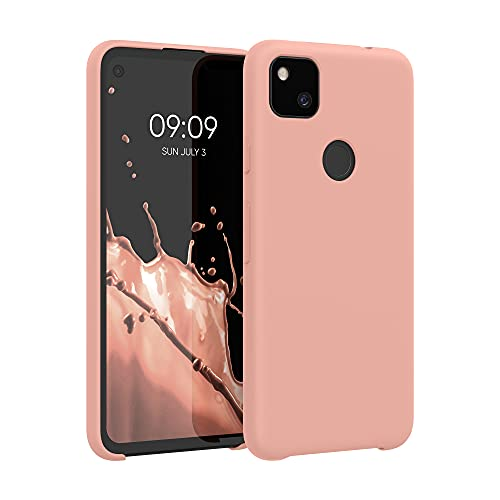 kwmobile Hülle kompatibel mit Google Pixel 4a - Hülle Handyhülle gummiert - Handy Hülle in Grapefruit Pink