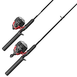 Zebco 202 & Zebco 404 Spincast Reels and 2-Piece Fishing Rod Combos (2-Pack), QuickSet Anti-Reverse Fishing Reels with Bite Alert