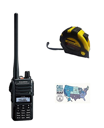 Bundle - 3 Items - Includes Yaesu FT-65R - 2 Meter/70cm Dual Band FM Handheld Transceiver with The New Radiowavz Antenna Tape (2m - 30m) and HAM Guides Quick Reference Card. Buy it now for 119.95