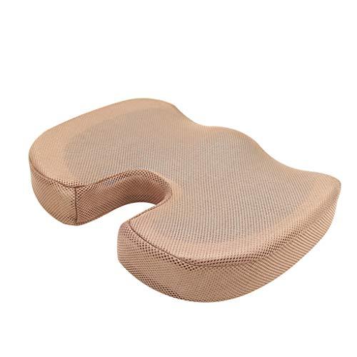 YiPong - Cuscino per sedia da ufficio a forma di U, in gel, in cotone, per aumentare le natiche, cuscino confortevole e avanzato