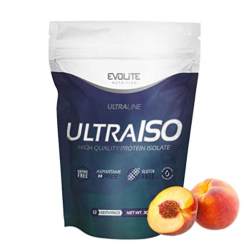 Evolite Nutrition Ultra Iso Whey 300 g - Whey Protein Isolate, High Protein Powder, Muscle Growth and Support, Create a Beautiful Body - Peach