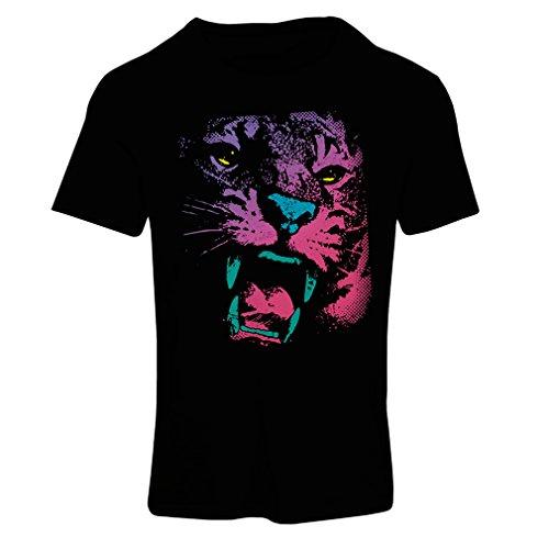 Frauen T-Shirt Der Tiger! (XX-Large Schwarz Mehrfarben)