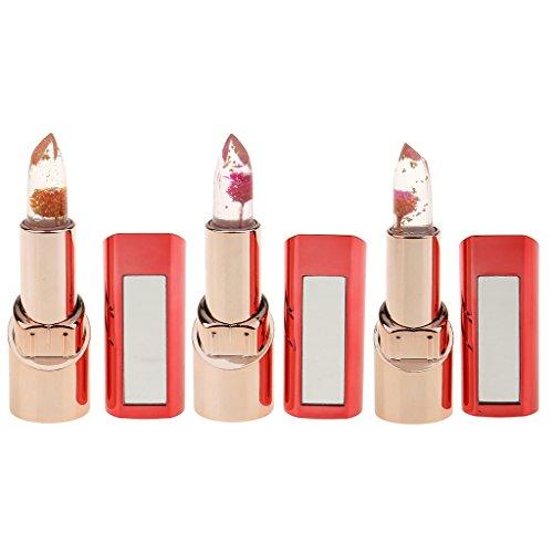 IPOTCH Make-Up Lippenstift mit Blume Transparent Natürlichen Temperatur Farbwechsel Langlebig...