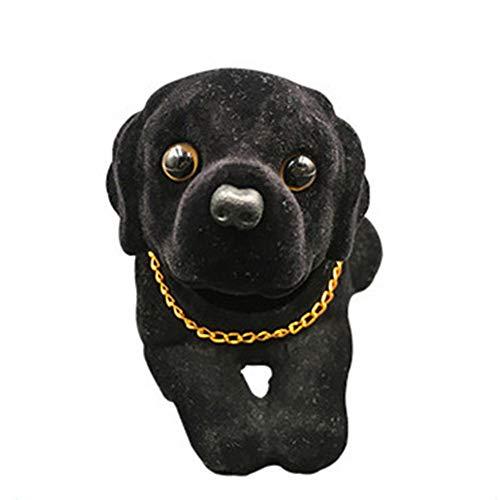 OLGKJ Car Styling Nodding Dog Auto Dashboard Doll Cute Labrador Bobblehead Dog Toy Car Rocking Head Dog Car Ornament Auto Accessories