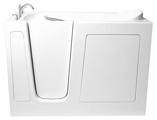 "Ariel EZWT-3060- Soaker-L Bath White Walk-In Bathtub Left Side Drain, 60"" L x 30"" W"