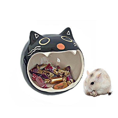 Keramik Hamster Bettwäsche Hideout Nest, Chinchilla Käfig-Zubehör, Hamster House Toys Heim und Bad für Kleintierzucker Segelflugzeug Eichhörnchen Chinchilla Hamster Ratte spielen schlafen