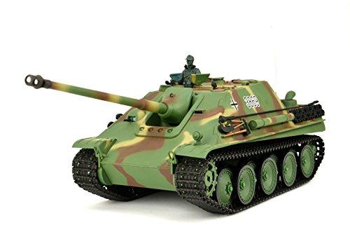 """RC Panzer ferngesteuert mit Schußfunktion \""""Jagdpanther\"""" Heng Long 1:16 mit Rauch&Sound, Metallgetriebe aus Stahl und 2,4Ghz Fernsteuerung -V6.0"""