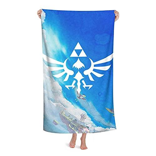 XBBAO Toalla de playa extragrande Legend of Zelda Toalla de baño de microfibra para natación, spa, viajes, yoga, deportes, camping, tumbonas, cubierta o ducha
