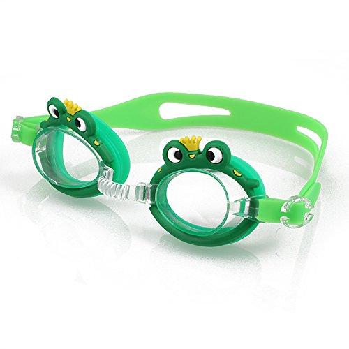 Anyutai Taucherbrille für Kinder Cartoons Anti-Fog-Schwimmbrille zum Schwimmen/Tauchen/Schnorcheln Schwimmzubehör Junior (Frosch)