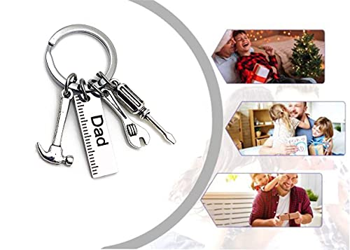 DSFKS Keychain for Dad Gift,If Dad Cant Fix It No One Can Keychain,Thank You for Helping Me Build My Life for Best Daddy Gifts (Dad)