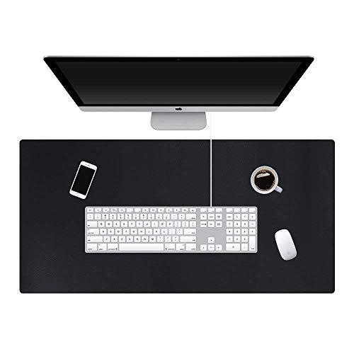 KEVMIYA 人工皮革素材の机のための パッド、80X40X0.2cm、ホームデスクおよびオフィステーブルのための完璧なマット、フィレット付き防水および長方形、両面(黒+赤)