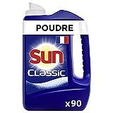Sun Poudre de Lavage Lave-Vaisselle Classic x90, Efficace contre les tâches les plus tena...
