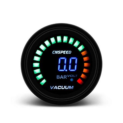 WEI-LUONG Racing VACUOMETRO 2 Pulgadas 52mm Leds Digital de Coches de vacío Medidor de Barra for el Coche del Carro del Barco Coche