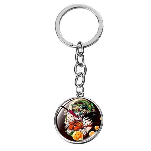 Bosi General Merchandise Dragon Ball Z, Goku, Vegeta, Super Saiyan, Llavero, Colgante de Dragon Ball, Llavero de Dragon Ball, decoración, Regalo Coleccionable