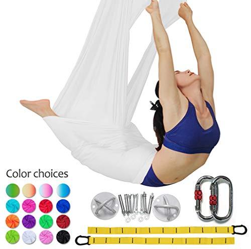 Equipo de cintas de yoga de alta calidad para yoga y yoga aéreo de Dasking, Blanco