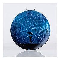 西渓 8インチ北欧セラミックプレートラウンド夜空スナック皿プレート磁器ステーキケーキデザートナッツトレイホーム朝食食器 (Color : Rain, Size : 8 inches)