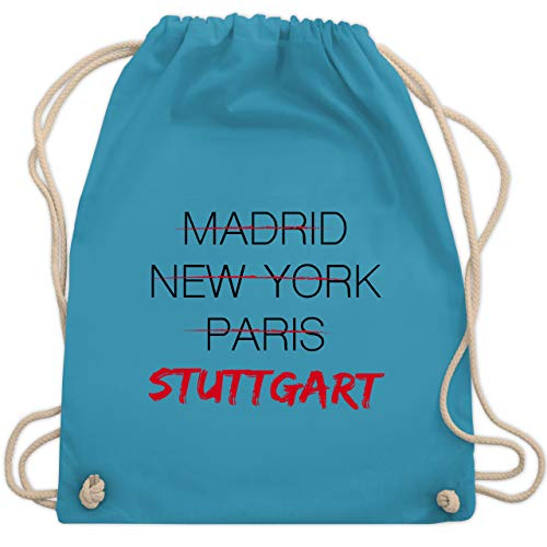 Städte - Weltstadt Stuttgart - Unisize - Hellblau - souvenir stuttgart - WM110 - Turnbeutel und Stoffbeutel aus Baumwolle