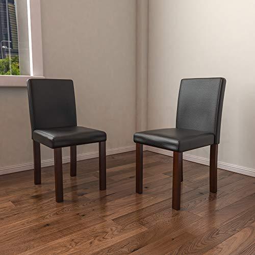 Vida Designs Comedor, Canterbury Negro & Nuez, 2 sillas