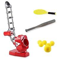 野球ピッチングマシン高さ調節可能なポータブルテニス自動ピッチングマシン初心者のための人間化されたデザイン 子供のスポーツ用品