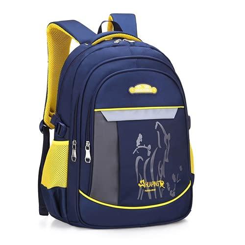 YIXIN Mochila escolar para niños de 6 a 12 años de edad, adolescentes y niñas, mochila de nailon impermeable, mochila de biblioteca ligera para niños