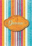 Donna: Taccuino A5 | Nome personalizzato Donna | Regalo di compleanno per moglie, mamma, sorella, figlia ... | Design: carta colorata | 120 pagine a righe, piccolo formato A5 (14.8 x 21 cm)