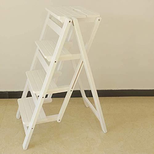 DaPengNB Escalera Plegable de 4 Niveles Step STEOL Wood Pasos de Cama Plegables para Adultos para Camas Altas para Adultos Unidades de estantería de pie. (Color : G)