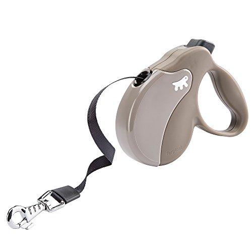 Ferplast Auszieh-Hundeleine AMIGO TAPE MINI, ausziehbares Gurtband, auswechselbares Cover, 3 m, max. 12 kg, 12 x 3 x h 10 cm, Taupe