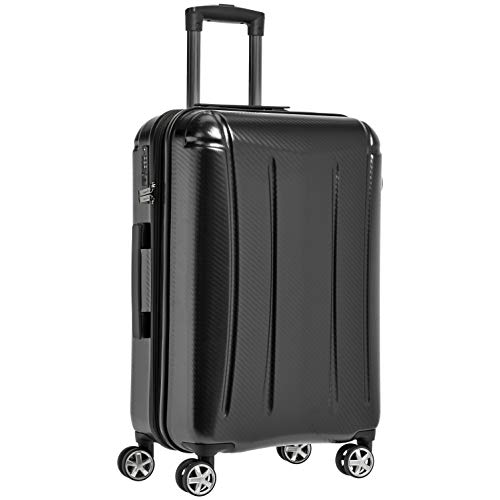 AmazonBasics Oxford Expandable Spinner Luggage Suitcase with TSA Lock - 26.8 Inch, Black