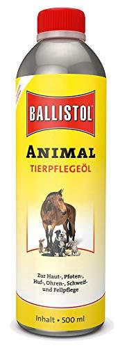 Eva Shop® Ballistol Animal 500ml Premiumprodukt zur Hautpflege, Pfotenpflege, Ohrreinigung und Ohrenpflege, ideal zur Schweifpflege, Fellpflege und zur Hufpflege von sämtlichen Tieren