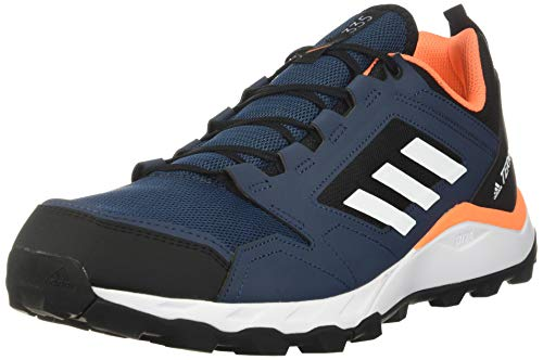 adidas Men's Terrex Agravic Trail Running Shoes Hiking, Crew Navy/White/Hazy Blue, 11